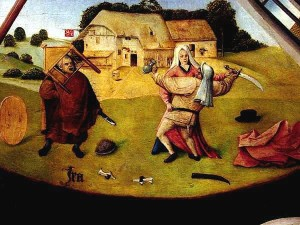 Hieronymus Bosch The Seven Deadly Sins and the Four Last Things: Anger