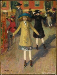 ccm Children Rollerskating by William Glackens