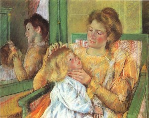ccm2Cassatt_Mary_Mother_Combing_Child's_Hair_1879